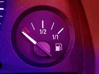 закончился бензин