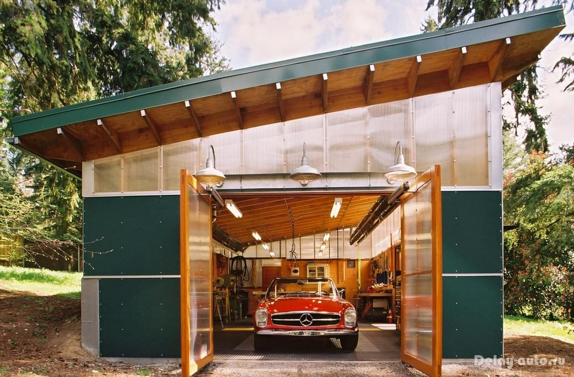 Необычные гаражи своими руками