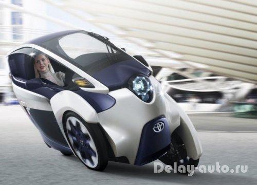 Toyota i-Road – футуристическая концепция городского автомобиля