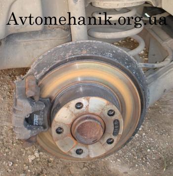 Ржавый тормозной диск
